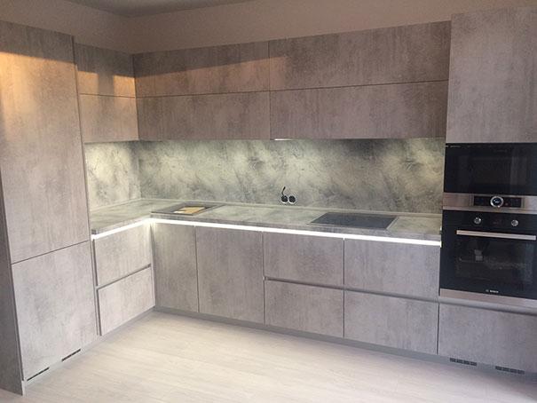 Кухня фасад бетон анализ цементных растворов